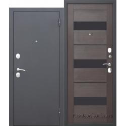 Стальная дверь Гарда МУАР Царга Темный кипарис FERRONI