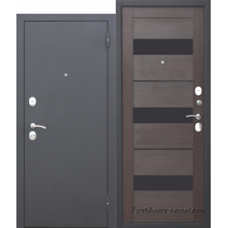 Стальная дверь Гарда МУАР Царга Темный кипарис
