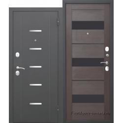 Стальная дверь Гарда МУАР Царга Темный кипарис 7,5 см