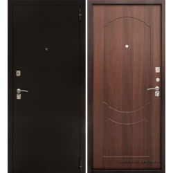 Стальная дверь Тайгер Гост Мини (медь/итальянский орех)
