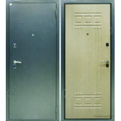 Стальная дверь Милан антик серебро/беленый дуб