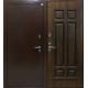 Стальная дверь Фараон терморазрыв молот/темный дуб