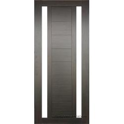 Межкомнатная дверь №15 3D Орех темный Ст Белое