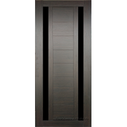 Межкомнатная дверь №15 3D Орех темный Ст Черное