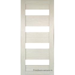 Межкомнатная дверь №16 3D Cappuccino Ст Белое