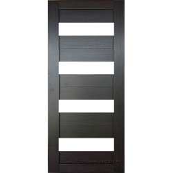 Межкомнатная дверь №16 3D Орех темный Ст Белое