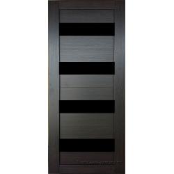 Межкомнатная дверь №16 3D Орех темный Ст Черное
