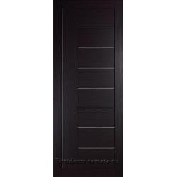 Межкомнатная дверь №17 3D Орех темный Ст Белое