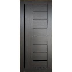 Межкомнатная дверь №17 3D Орех темный Ст Черное