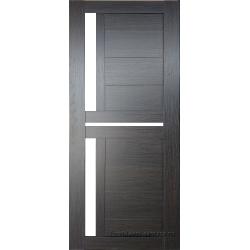 Межкомнатная дверь №19 3D Орех темный Ст Белое