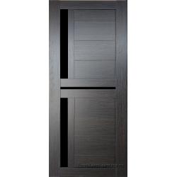 Межкомнатная дверь №19 3D Орех темный Ст Черное