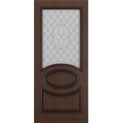 Межкомнатная дверь Неаполь Ясень коричневый Черная