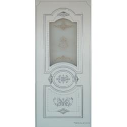 Межкомнатная дверь Рада-2 Белый Серебро ПО