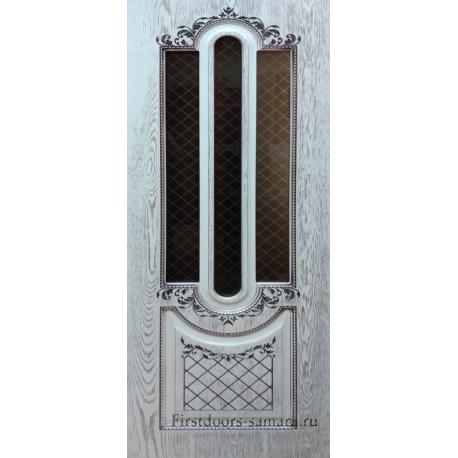 Межкомнатная дверь Премиум-7 Белая Патина
