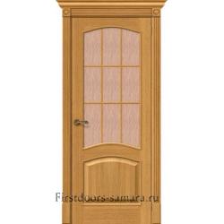Межкомнатная дверь Вуд Классик-33 Natur Oak Bronze Gloria