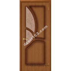 Межкомнатная дверь Греция Орех (стекло)