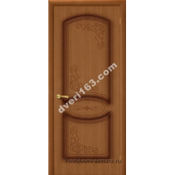 Межкомнатная дверь Муза Орех (без стекла)