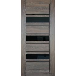Межкомнатная дверь S-27 Дуб корица СТ-Черное