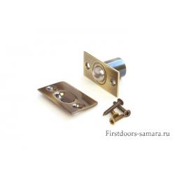 Фиксатор дверной Шариковый АВ бронза 588 ф12мм(20)