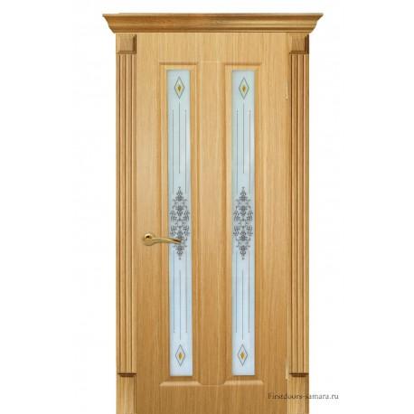 Межкомнатная дверь ДО Екатерина 2 дуб светлый