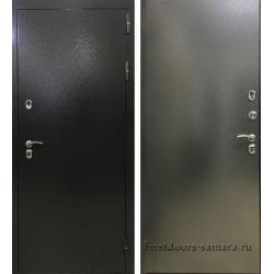 Стальная дверь Терморазрыв серебро метал-метал