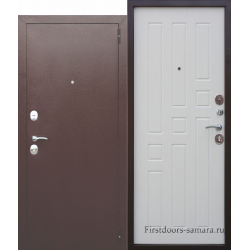 Стальная дверь Гарда муар 8 мм Белый ясень