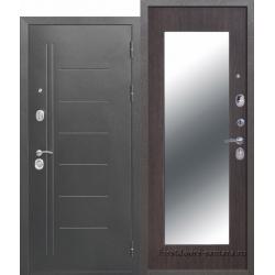 Стальная дверь Троя Серебро МАКСИ зеркало Венге