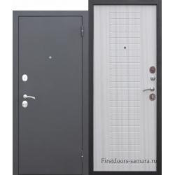 Стальная дверь Гарда МУАР 8 мм Белый ясень FERRONI