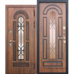 Стальная морозостойкая дверь c ТЕРМОРАЗРЫВОМ 13 см VITRA Винорит Патина