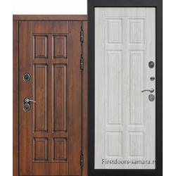 Стальная морозостойкая дверь c ТЕРМОРАЗРЫВОМ 13 см Isoterma МДФ/МДФ Сосна белая