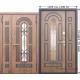 Стальная дверь со стеклопакетом и ковкой Vikont 1200/1300х2050