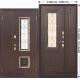Стальная дверь со стеклопакетом Венеция 1200 Венге