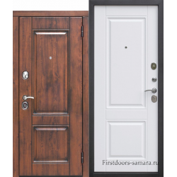 Стальная дверь ВЕНА Vinorit Патина МДФ/МДФ Белый матовый 9,5 см