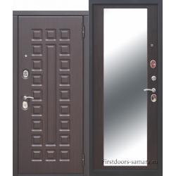 Стальная дверь МОНАРХ Зеркало Венге 10 см