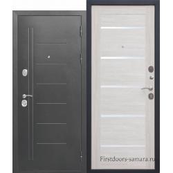 Стальная дверь Троя Серебро Лиственница беж 10 см