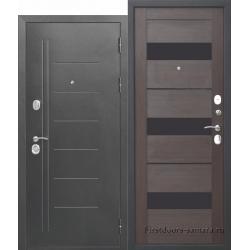 Стальная дверь Троя Серебро Темный Кипарис 10 см
