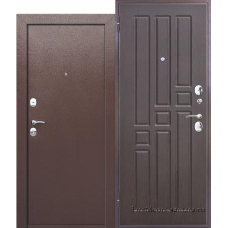 Стальная дверь Гарда ВО 2 замка Венге. Внутреннее открывание