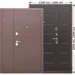 Стальная дверь Гарда Венге 7,5 см 1200*2050