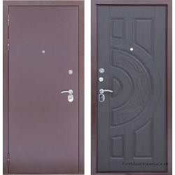 Стальная дверь Тайгер Трио медь-венге
