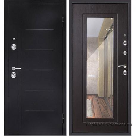 Стальная дверь Сити Зеркало Венге, Дверной Континент