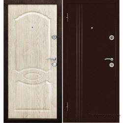 Стальная дверь Экстра Беленый дуб, Дверной Континент