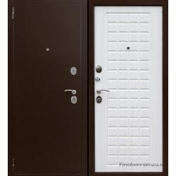 Стальная дверь Тайгер Сотка (медь/сандал белый)
