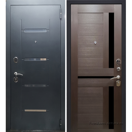 Стальная дверь Тайгер Стиль Царга (муар с блестками/орех)