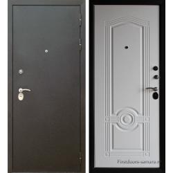Стальная дверь Тайгер Трио (шёлк/белый ясень)